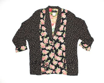 Vintage Abstract Floral  Blazer
