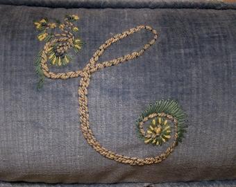 Spencerian Script Monogrammed Pillowcover