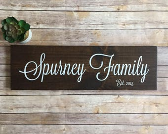 Family Name Sign | Family Established Wood Sign | Last Name Sign | Rustic Home Decor | Farmhouse Decor