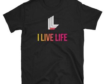 The Blend Shirt | I Live Life Original | Gold T-shirt Beach Sunset T shirt Mens Shirts Womens Shirts Womens Gift Trendy Short-Sleeve Tshirt