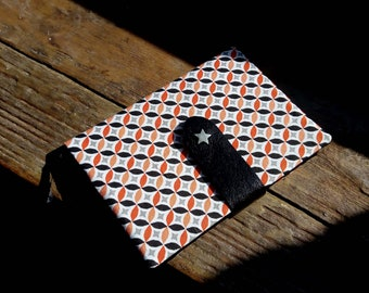 Fabric cover notebook printed