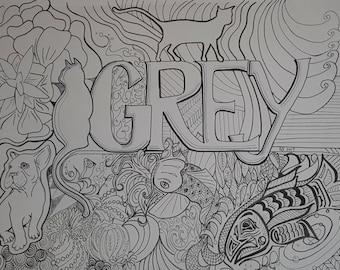 Grey Coloring Sheet