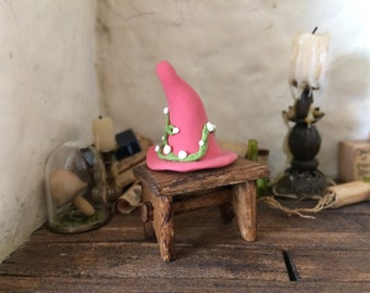 OOAK fancy magical hat/magic/witch/wizard - scale 1/12 - for doll house
