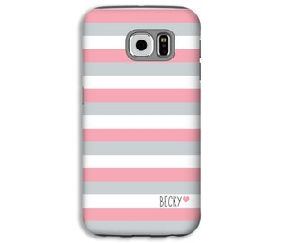 Stripes Personalized Samsung Galaxy S8 case, Galaxy S8 Plus case, Galaxy Note 8 case, Galaxy S6 Edge/S7 Edge case, Galaxy S6/S5 case