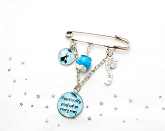 mary poppins pratically perfect drop spindle glass bead