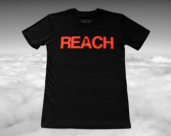 The REACH / ESCAPE Parkour T-Shirt - Black with Infra Red print