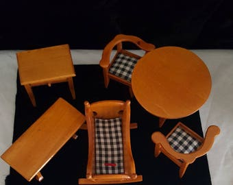 Dollhouse Miniature Furniture ~ 6 pc Set