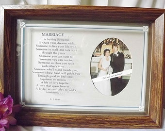 The art of marriage poem print personalized wedding blessing