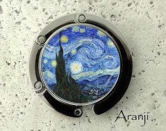 Van Gogh Starry Night purse hanger, tabletop purse hanger, purse hanger, purse hook, Starry Night purse hook, Van Gogh purse hanger AR145PH