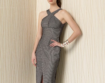 Vogue Sewing Pattern V1498 Misses' Criss-Cross Strap Dress