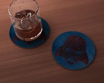 Dark Father Geek Drink Coaster