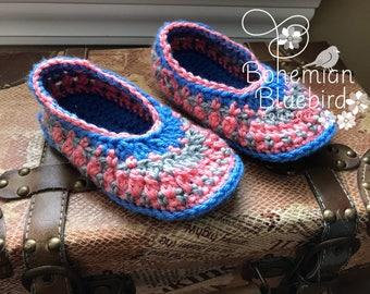 Girls Slippers Crochet Slippers Child's Slipper