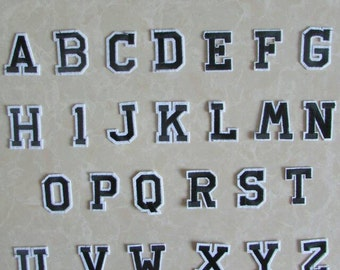 1 PC Alphabet Letters iron on or sew on patch applique Alphabet patch, Alphabet applique, Letters patches letters patch Letters applique