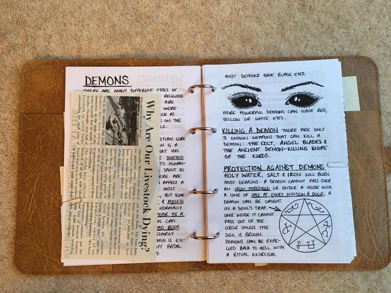 Дневник Джона Винчестера Сверхъестественное Wiki