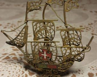 Miniature Portuguese Caravel.