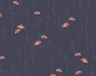 Fabric by the yard- Cotton quilting fabric rainbrella Shadow-Amy Sinibaldi-- Art Gallery- quilting and sewing fabric- summery fun fabric