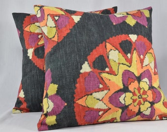 "Suzani Pillow Cover, Suzani Decor, Vintage Pillow, Square Pillow, Throw Pillow, Boho Pillow, Boho Decor - 16"" Pillow - PC54"