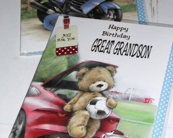 12 cards GREAT GRANDSON birthday CARDS x12 Just 35p - We also have birthday cards / christmas cards / thank you cards