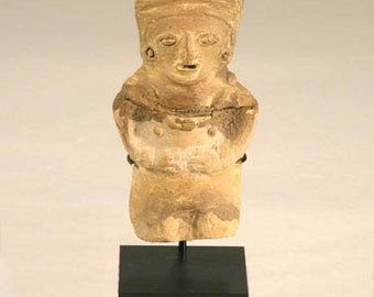 "Egyptian Pre Columbian Figurine Ushabti Artifact Display Stand, Holder, TA-525, 5"" high T-armature"