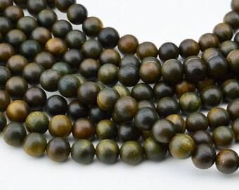 108PC  Natural Slight  Fragrant  Green Sandalwood 8MM  Mala Finding, Buddhism Bead , Wood Bead