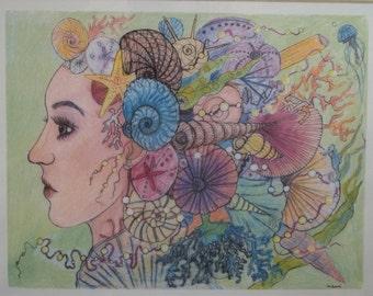 Mermaid -Print