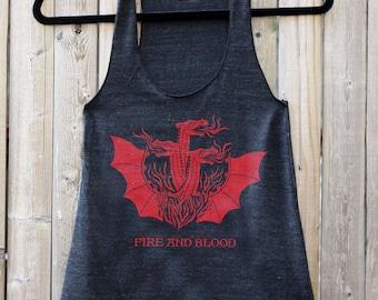 Game of Thrones // Targaryen FIRE & BLOOD // Women's Racerback Tank