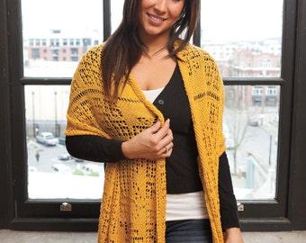 """Lace shawl/wrap (""""Addis Abeba"""") knitting pattern (PDF)"""