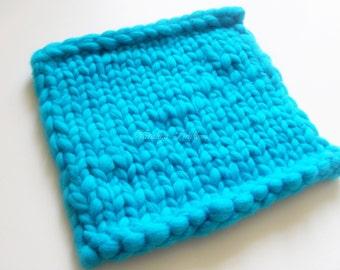Pure Classic Knit Merino Wool Mini Blanket for Newborn Infant Photography Prop/Merino Basket Stuffer/Wool Mini Blanket/Wool Blanket Prop
