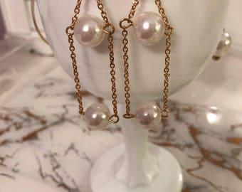 Ball & Chain drop earrings