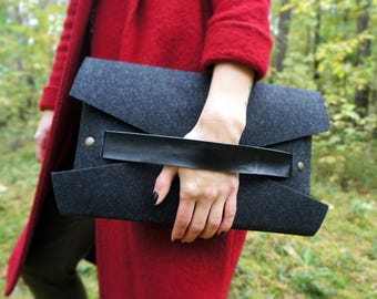 Felt clutch / evening bag