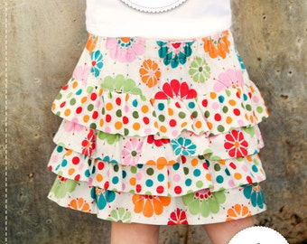 PDF Sewing Pattern and Tutorial for Lexi Ruffle Skirt, Make and Sell, DIY, Sewing Patterns by Angel Lea Designs