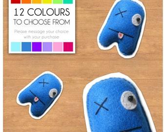 """Mini Felt Monster Plush Toy by BABUA - """"Patrick"""" - 12 Colors"""