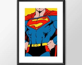 Superman - Digitally Painted Tribute  - PRINTED - BUY 2 Get 1 FREE