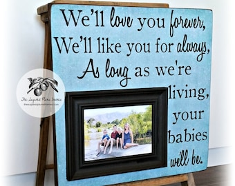 Love You Forever, Grandparents Gifts, Christmas Gift for Grandma, Grandma Gift Picture Frame, Gift from Grandkids, Mothers Day 16x16