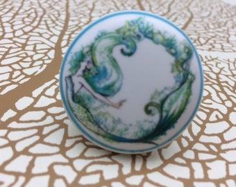 Fantasy Mermaid Ceramic Knob
