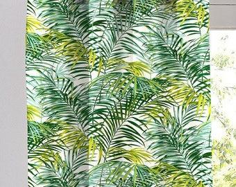 Curtain, ready to, ask, eyelets, foliage, exotic, palm springs, Thévenon