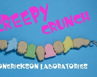 Kawaii Creepy Crunch Cereal Bracelet - Creepy Cute -Ghoulish Graveyard Mix