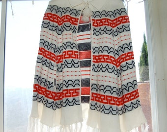 Vintage Poncho, perfect for 4th O' July!