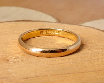 22k yellow gold band made in 1939