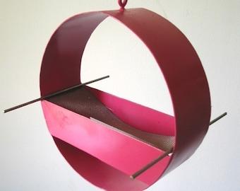 Birdfeeder - Charm Modern Bird Feeder in Pink - welded steel and stainless steel