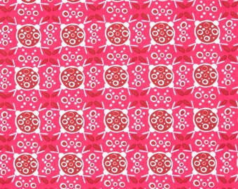 Ashton Road raspberry fabric - pink fabric - modern fabric - Robert Kaufman fabric - fabric sale - pink fabric by the yard - #16453