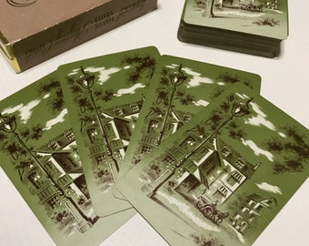 Vintage Playing Cards Swap Cards Junk Journal Scenery House