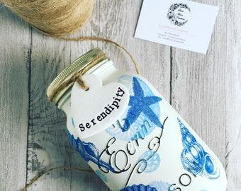 Handmade nautical jar