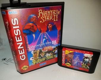 Phantasy Star 2,3 and 4 in 1 cartridge