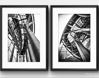 Black & White ARCHITECTURE/ Wall Art Photos, Set of 2 photos.