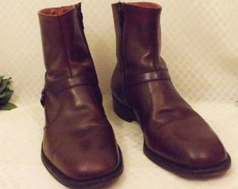 70's E T Wright Men's Brown Dress Boots Size 9 . 5