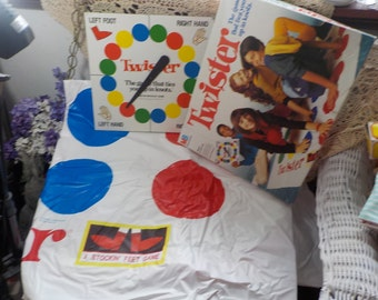 Reserved Twister The Game that Ties You in Knots, Vintage Games, Vintage Toys, Toy,1990 s Great Gift Idea :)s*