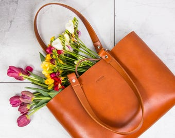 Leather bag, leather handbag, brown leather bag, leather tote, shoulder bag, leather purse, leather tote bag, leather shoulder bag