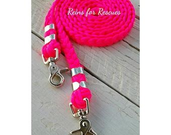 Hot, Hot Pink Basic Riding Reins