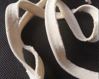 Grosgrain piping trimming/look ivory/bias/luxury silk/border silk blouse / silk touch/blouse edge / seam finish